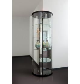 Special vitrinekast Curve 270 3/4 rond 72 cm zonder opties | Zwart