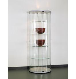 Special vitrinekast Curve 360 rond 72 cm zonder opties | Zilver