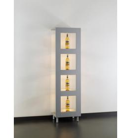 Special vitrinekast Galleria MDF RAL 9006 51CM zonder opties | Zilver