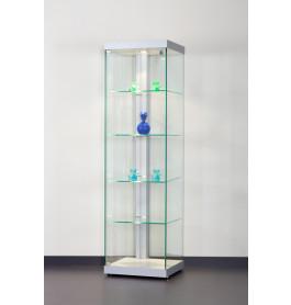Special vitrinekast Linea 50 zonder opties |  50 cm  zilver