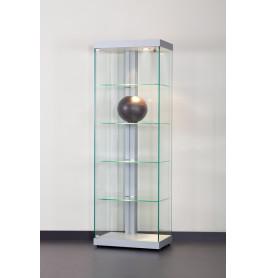 Special vitrinekast Linea 60 zonder opties | 60 cm Zilver