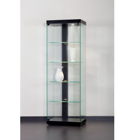 Special vitrinekast Linea 60 zonder opties| 60 cm | Zwart