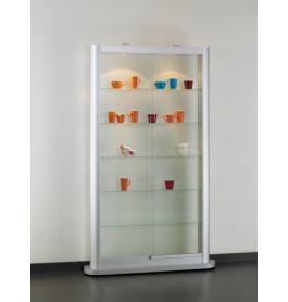 Speciale vitrinekast Senza met voetplaat 112 CM lichtgrijs