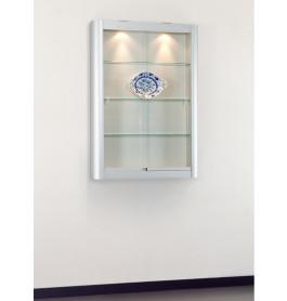 Speciale vitrinekast Senza Wand | technisch geanodiseerd 95 CM lichtgrijs