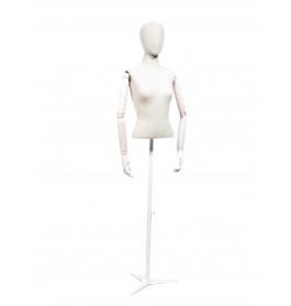 Vintage 1/2 torso dame merk Gruppo Corso wit / zand