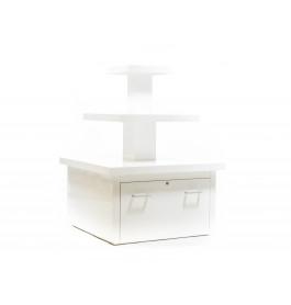 Zware hoogglans piramide tafel met lade