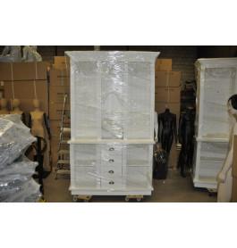 Winkelkast van 150 cm breed in het wit 250 cm hoog