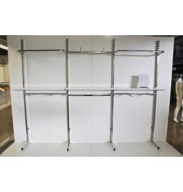 wandsysteem gondola kledingrek kliksysteem 3 meter