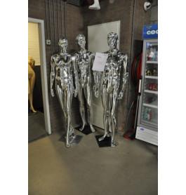 Dames en herenfiguren van exclusief A-merk glossy zilver
