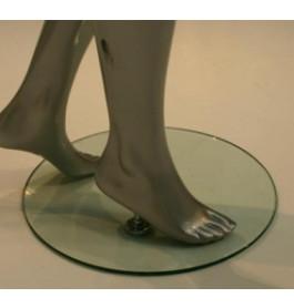 GEBRUIKTE voetplaat inclusief voetpin
