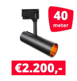 LED Railverlichting Horeca Arrow 40 spots + 40M rails