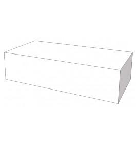 Glossy wit podium 200 x 100 x 50 cm