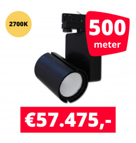 LED Railverlichting Baron Black 2700K 500 spots + 500M rails