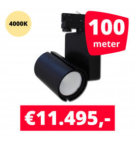 LED Railverlichting Baron Black 4000K 100 spots + 100M rails
