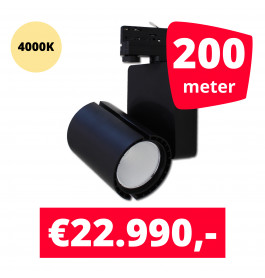 LED Railverlichting Baron Black 4000K 200 spots + 200M rails