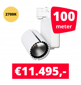 LED Railverlichting Baron White 2700K 100 spots + 100M rails