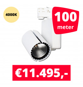 LED Railverlichting Baron White 4000K 100 spots + 100M rails