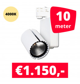 LED Railverlichting Baron White 4000K 10 spots + 10M rails