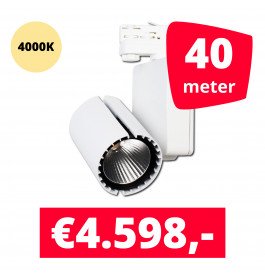 LED Railverlichting Baron White 4000K 40 spots + 40M rails