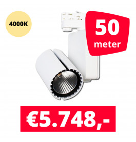 LED Railverlichting Baron White 4000K 50 spots + 50M rails