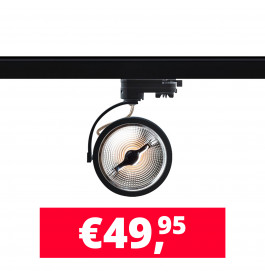 LED Track Spot AR 111 Zwart 2700K Extra Warmwit