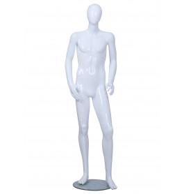 Faceless etalagepop jongen glossy wit 14-15 jaar mt 164/176 BC09-GW