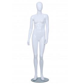 Faceless etalagepop meisje glossy wit 14-15 jaar mt 164/176 BC12-GW