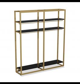 Bigshop kit8800 - H2400 - 2 span - goud met zwarte planken