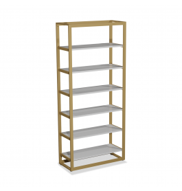 Bigshop KIT8801 - H2400 - 1 span - goud met 6 witte planken