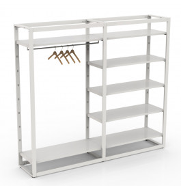 Bigshop kit8803 - H1850 - 2 span - wit met witte glossy planken