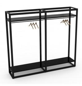 Bigshop kit8804 - H1850 - 2 span - zwart met zwarte glossy planken