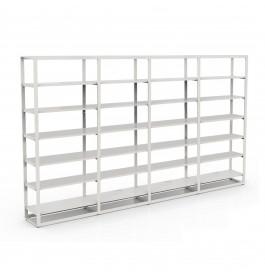 Bigshop kit8805 - H2400 - 4 span - wit met 24 witte glossy planken