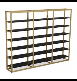 Bigshop kit8802 - H2400 - 3 span - goud met 18 zwarte planken