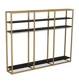 Bigshop kit8802 - H2400 - 3 span - goud met zwarte planken