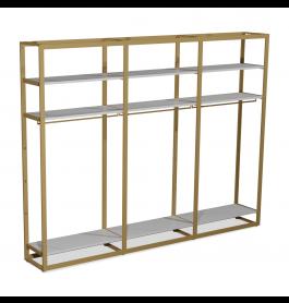 Bigshop kit8802 - H2400 - 3 span - goud met witte planken
