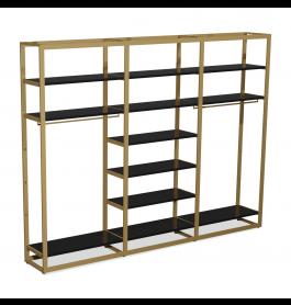 Bigshop kit8802 - H2400 - 3 span - goud met 12 zwarte planken