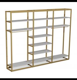 Bigshop kit8802 - H2400 - 3 span - goud met 12 witte planken
