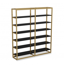 Bigshop kit8800 - H2400 - 2 span - goud met 12 zwarte planken