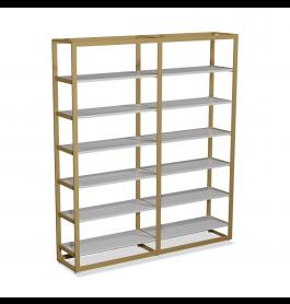 Bigshop kit8800 - H2400 - 2 span - goud met 12 witte planken