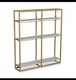 Bigshop kit8800 - H2400 - 2 span - goud met 6 witte planken en 4 confectiestangen
