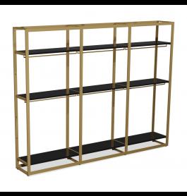 Bigshop kit8802 - H2400 - 3 span - goud met 9 zwarte planken en 6 confectiestangen