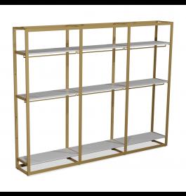 Bigshop kit8802 - H2400 - 3 span - goud met 9 witte planken en 6 confectiestangen