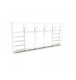 Bigshop kit8817 - H2400 - 5 span - wit met 21 witte glossy planken