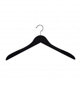 Hanger black Helena 44 cm Flock covered