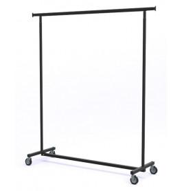 black edition, vaste hoogte, XXL LUXE Inklapbaar kledingrek extra breed van onze fabriek uit Italie
