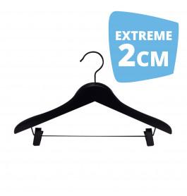 Hanger black Helena 44 cm clips Extreme 2cm Dik