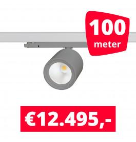 LED Railverlichting BS020 Grijs 100 spots + 100M rails
