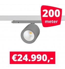 LED Railverlichting BS020 Grijs 200 spots + 200M rails