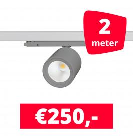LED Railverlichting BS020 Grijs 2 spots + 2M rails