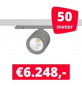 LED Railverlichting BS020 Grijs 50 spots + 50M rails